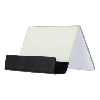 Ivory Solid Color Desk Business Card Holder