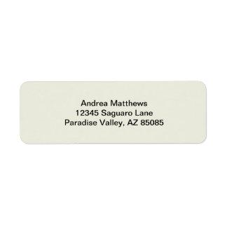 Ivory Solid Color Custom Return Address Labels