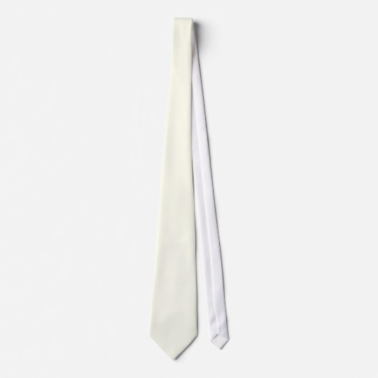 ivory solid color neck tie