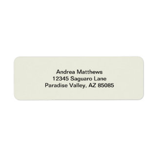 Ivory Solid Color Return Address Label