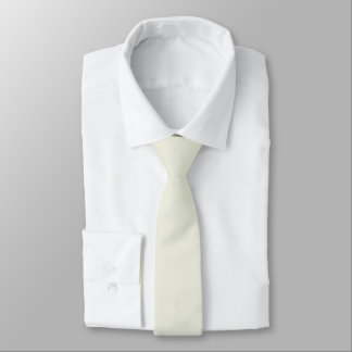 Ivory Solid Color Tie