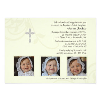 "Ivory Splendor Photo Invitation 5"" X 7"" Invitation Card"