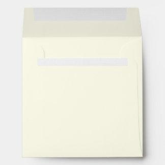 Ivory Square Linen Envelopes