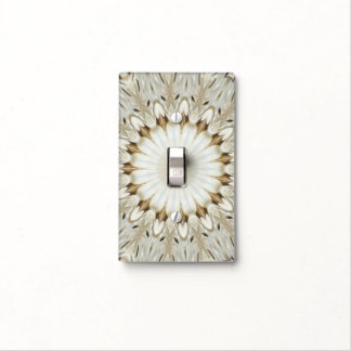 Ivory Starburst Light Switch Cover