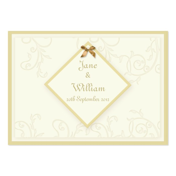 Ivory Swirls & Tag Wedding Guest Book Cards