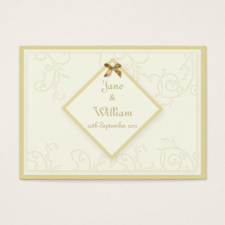 Ivory Swirls Amp Tag Wedding Guest Book Cards