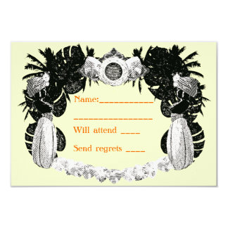 Ivory & Tangerine Moroccan Hookah Lounge Party - 3.5x5 Paper Invitation Card