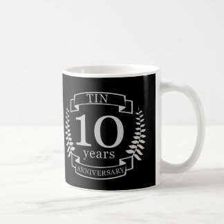 Ivory Traditional wedding anniversary 10 years Coffee Mug