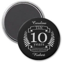 Ivory Traditional wedding anniversary 10 years Magnet