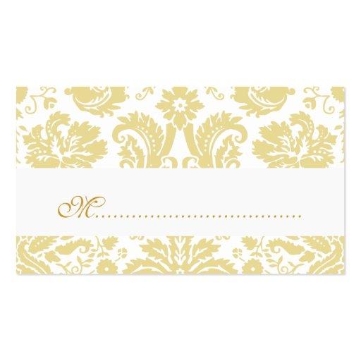 Ivory Vintage Damask Wedding Place Cards Business Card