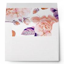 Ivory vintage flowers pattern wedding envelope