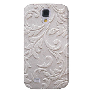 Ivory White Damask Samsung Galaxy S4 Case