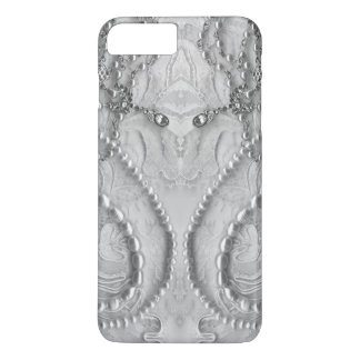 Ivory White Girly Lace And Purls iPhone 8 Plus/7 Plus Case