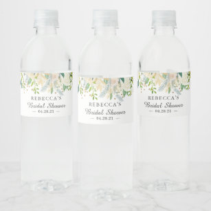 Party Personalized Water Bottle Labels Custom Water Bottle Labels  Peach Coral Wedding Shower WB WCP Wedding Reception