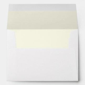 Ivory White Interior A7 Envelope