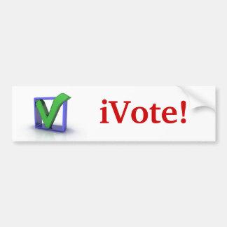 iVote! Bumper Sticker Car Bumper Sticker