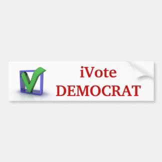 iVote DEMOCRAT!! Bumper Sticker Car Bumper Sticker