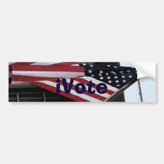 iVote flag bumper sticker Car Bumper Sticker