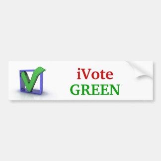 iVote GREEN Bumper Sticker Car Bumper Sticker