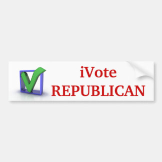 iVote REPUBLICAN!! Bumper Sticker Car Bumper Sticker