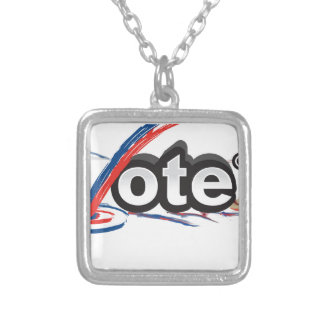 iVOTE Silver Plated Necklace