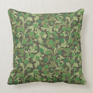 Ivy and Acanthus Greens Print Pillow 20x20
