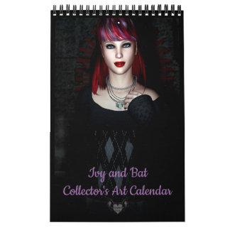 Ivy and Bat Collectors Art Calendar