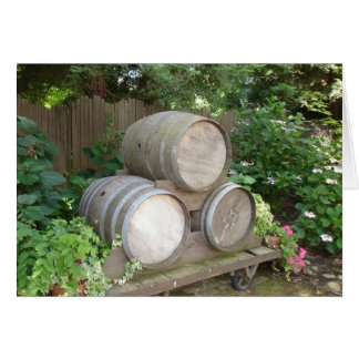 Ivy and Wine Barrels Stationery Note Card