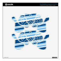 Ivy Blue Striped PS3 Controller Skin