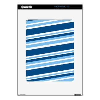 Ivy Blue-Striped iPad Skin