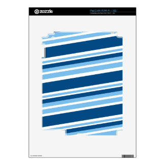 Ivy Blue-Striped Decal For The iPad 2