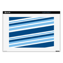 Ivy Blue-Striped Skin For Laptop