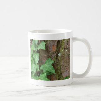 Ivy Climbing Tree Bark in the Rain Nature Coffee Mug