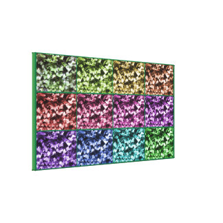 Ivy Colour Progression Wrapped Canvas - Medium