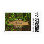 Ivy Covered Fence & Carved Wood Plaque Brunch Stamps