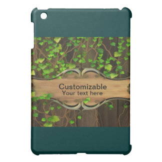 Ivy ed Fence with Wooden Carved Sign iPad Mini Cover