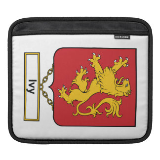 Ivy Family Crest Sleeve For iPads
