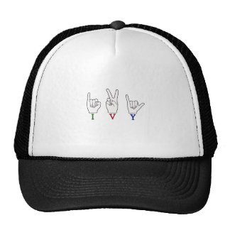 IVY FINGERSPELLED ASL SIGN TRUCKER HAT