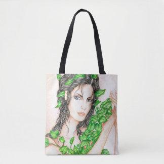 Ivy Girl Portrait Drawing Sketch Illustration Tote Bag