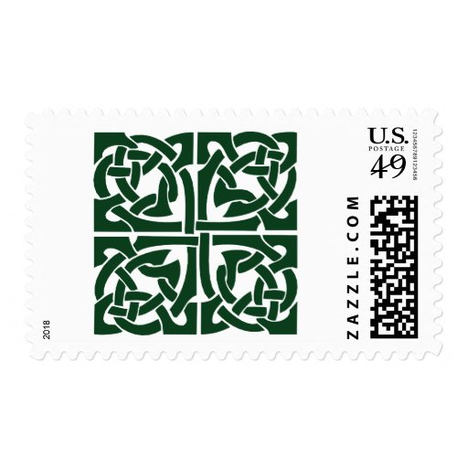 Ivy Green Celtic Knotwork Postage Stamp