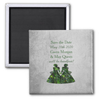 Ivy Green Ladies Handfasting Save the Date Magnet