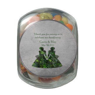 Ivy Green Ladies Jelly Belly Jar Favor Jelly Belly Candy Jar