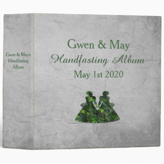 Ivy Green Ladies Lesbian Handfasting Album 3 Ring Binder