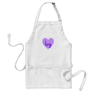 Ivy in Purple Adult Apron