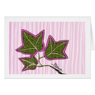 Ivy Leaf Sun Frameable Card