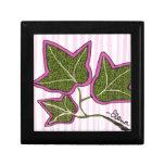 Ivy Leaf Sun Jewelry Box