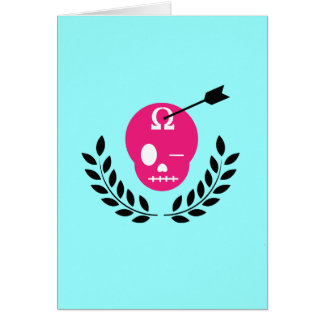 Ivy League Skull Greeting Card