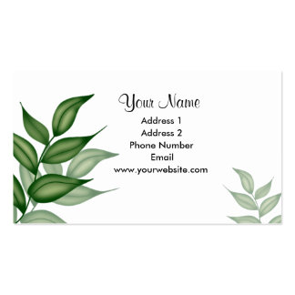 Ivy Leaves Business Cards