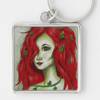 Ivy Nymph Redhead Fantasy Original Art Keychain