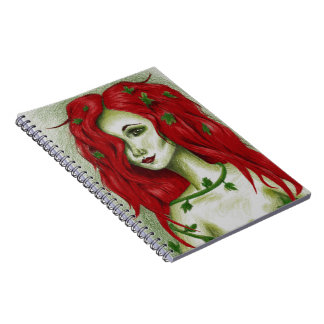 Ivy Nymph Redhead Fantasy Original Art Notebook